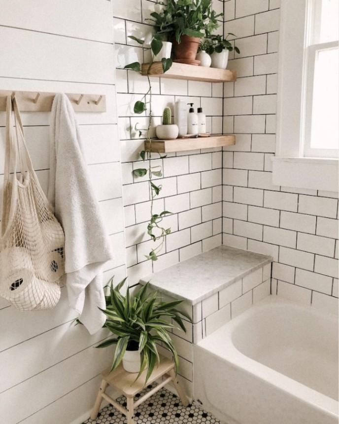 استفاده از گیاه پوتوس طلایی در حمام و سرویس بهداشتی