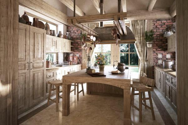 طراحی کابینت سنتی و مدرن آشپزخانه