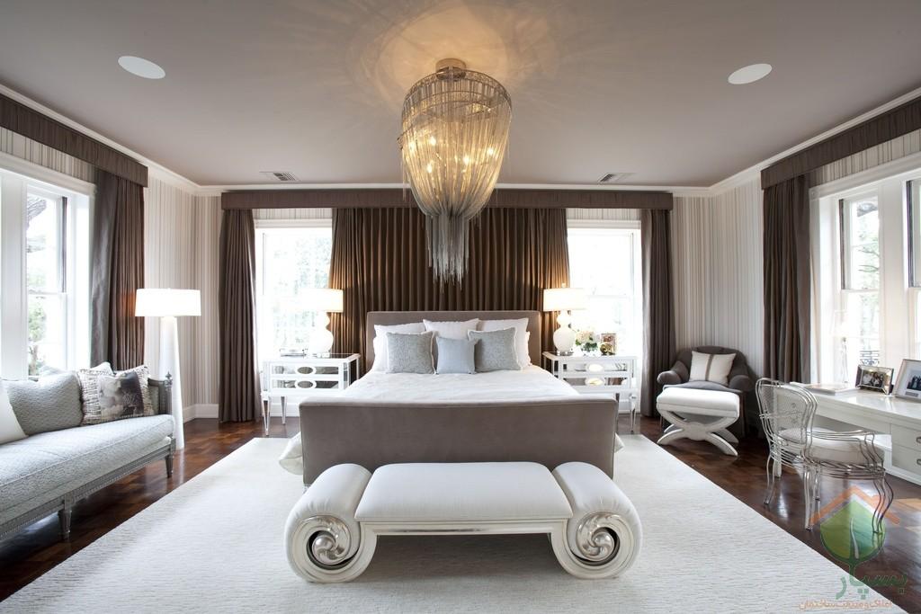 تصویر شماره طراحی و چیدمان اتاق خواب مستر