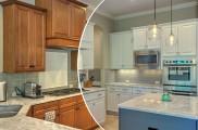 نحوه رنگ کردن کابینت های آشپزخانه