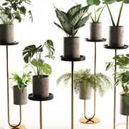 انواع استند گلدان (چوبی و فلزی) و کاربرد آن در دکوراسیون داخلی