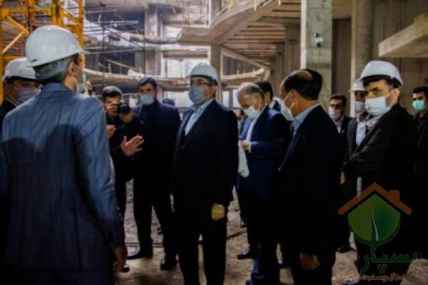 بازدید دبیر شورای عالی مناطق آزاد از پروژه شهرک ویلایی آرش در زیباکنار