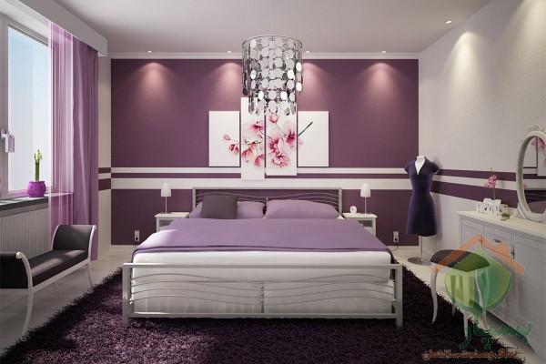 11 ایده چیدمان اتاق خواب بنفش