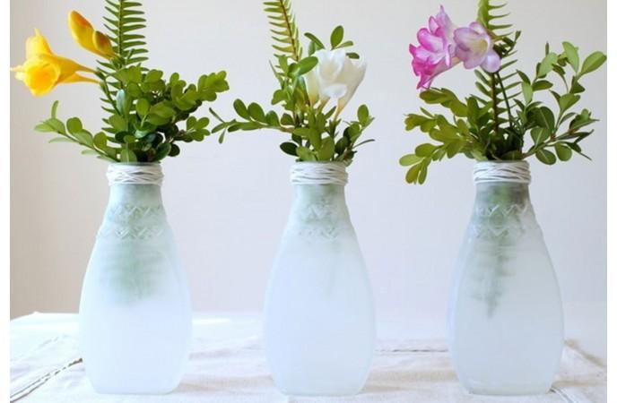 گلدان های شیشه ای