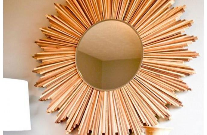 تزئئین آینه به شکل ستاره