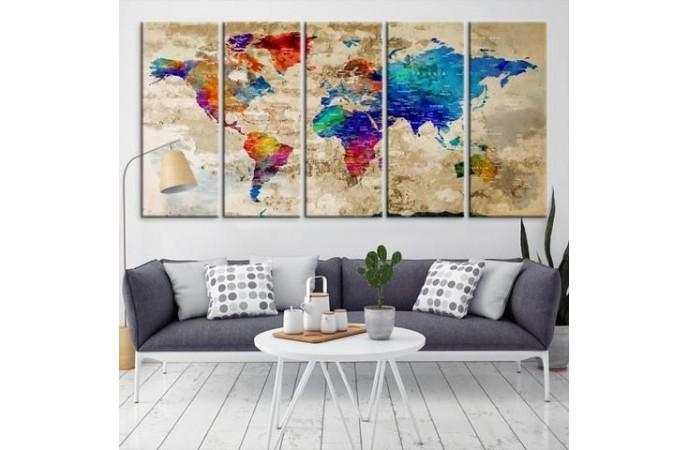 تابلوی هنری جهان نما
